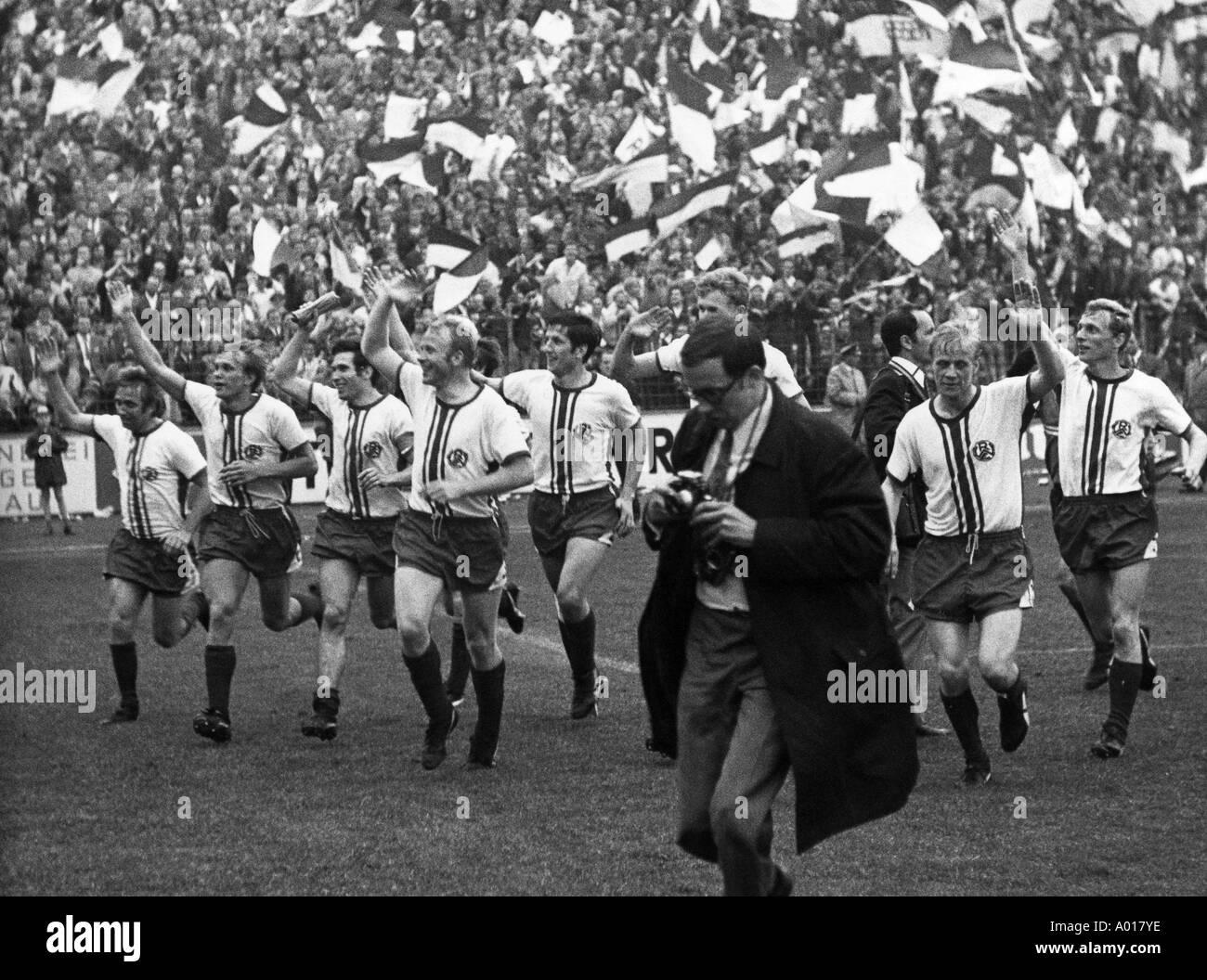football, Regionalliga, 1968/1969, promotion match to the Bundesliga, 1969/1970, Rot-Weiss Essen versus VfL Osnabrueck Stock Photo