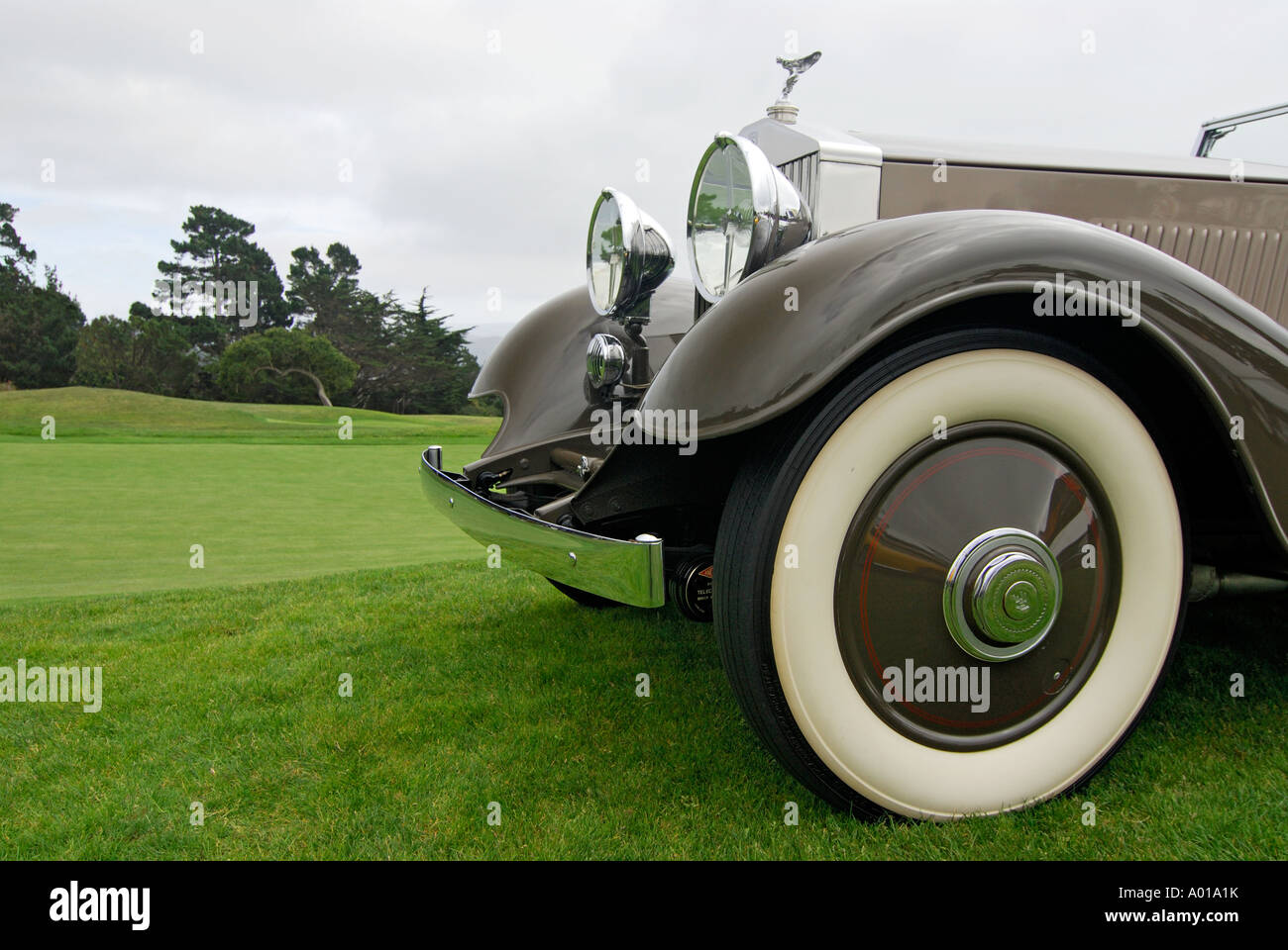'Front of Rolls Royce, Continental Kellner 3 Position Cabriolet, ^1934' - Stock Image