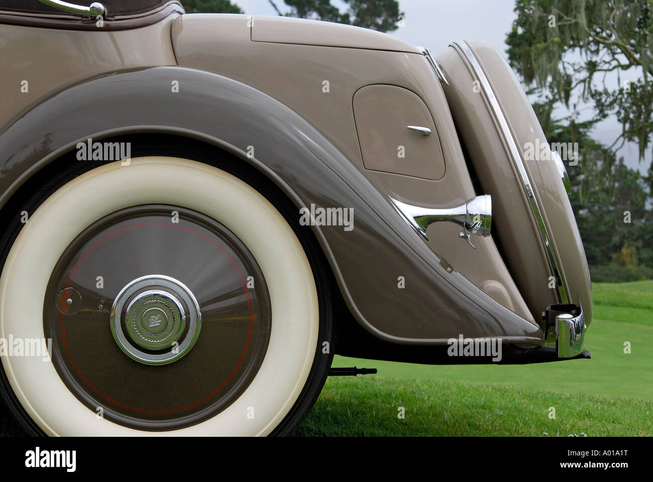 'Trunk of Rolls Royce, Continental Kellner 3 Position Cabriolet, ^1934' - Stock Image