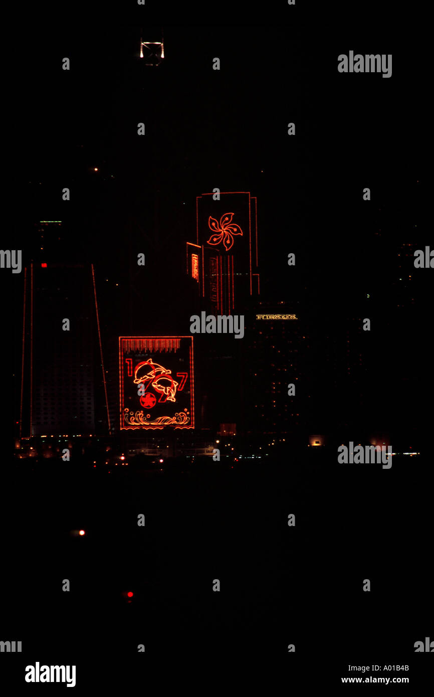 1997 handover celebration wan chi - Stock Image