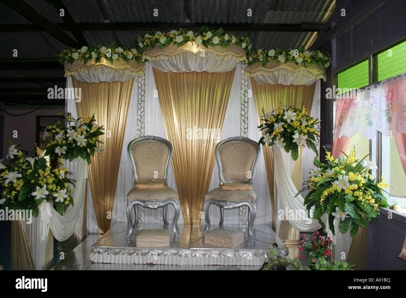 Dais for traditional malay wedding in malaysia stock photo 9847745 dais for traditional malay wedding in malaysia junglespirit Image collections