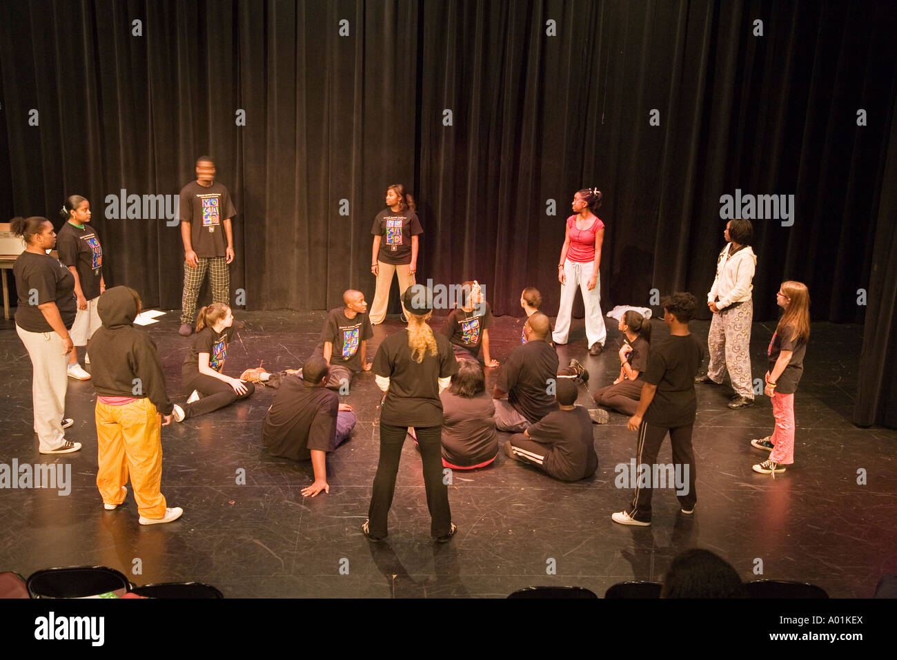 Mosaic Youth Theatre Rehearsal - Stock Image