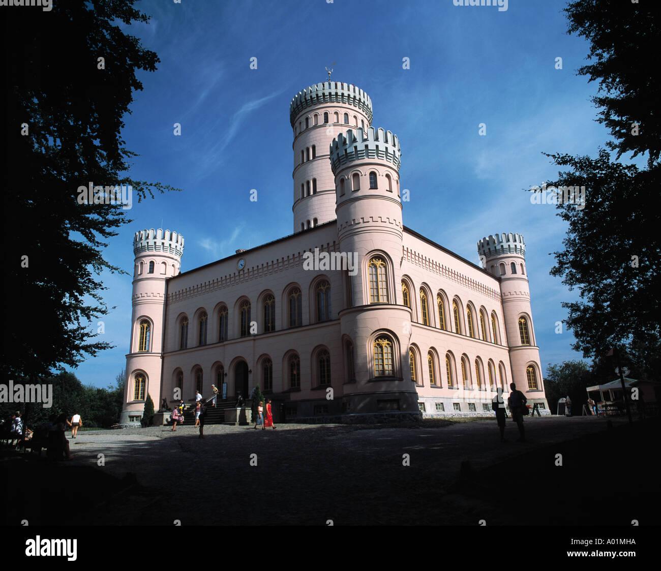 Jagdschloss Granitz auf dem Tempelberg in Lancken-Granitz, Ruegen, Biosphaerenreservat Suedost-Ruegen, Ostsee, Mecklenburg-Vorpommern - Stock Image