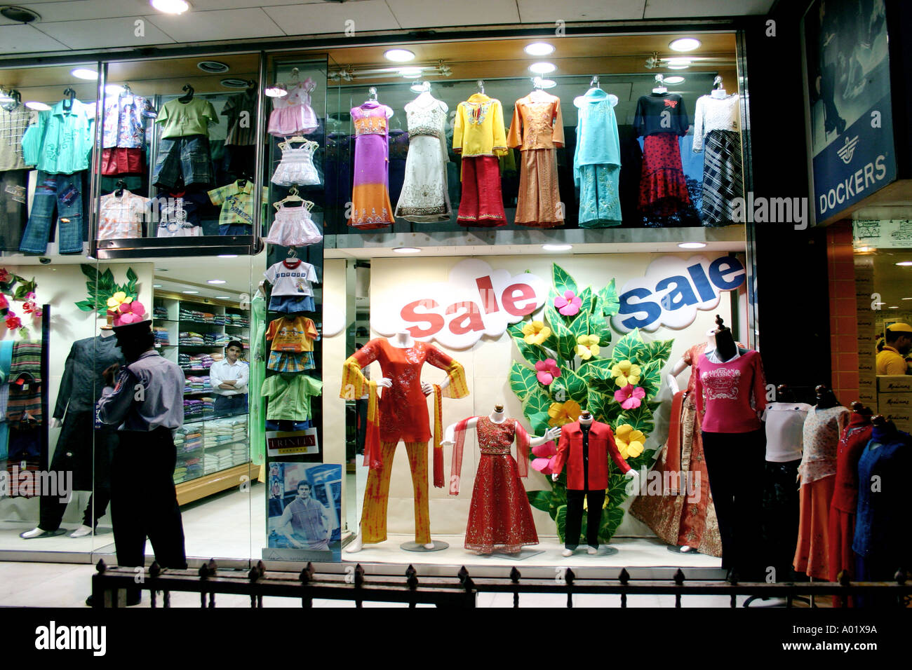 05807719c2 RSC0217 Show window of Garment shop with the word SALE at Andheri west  Bombay now Mumbai Maharastra India