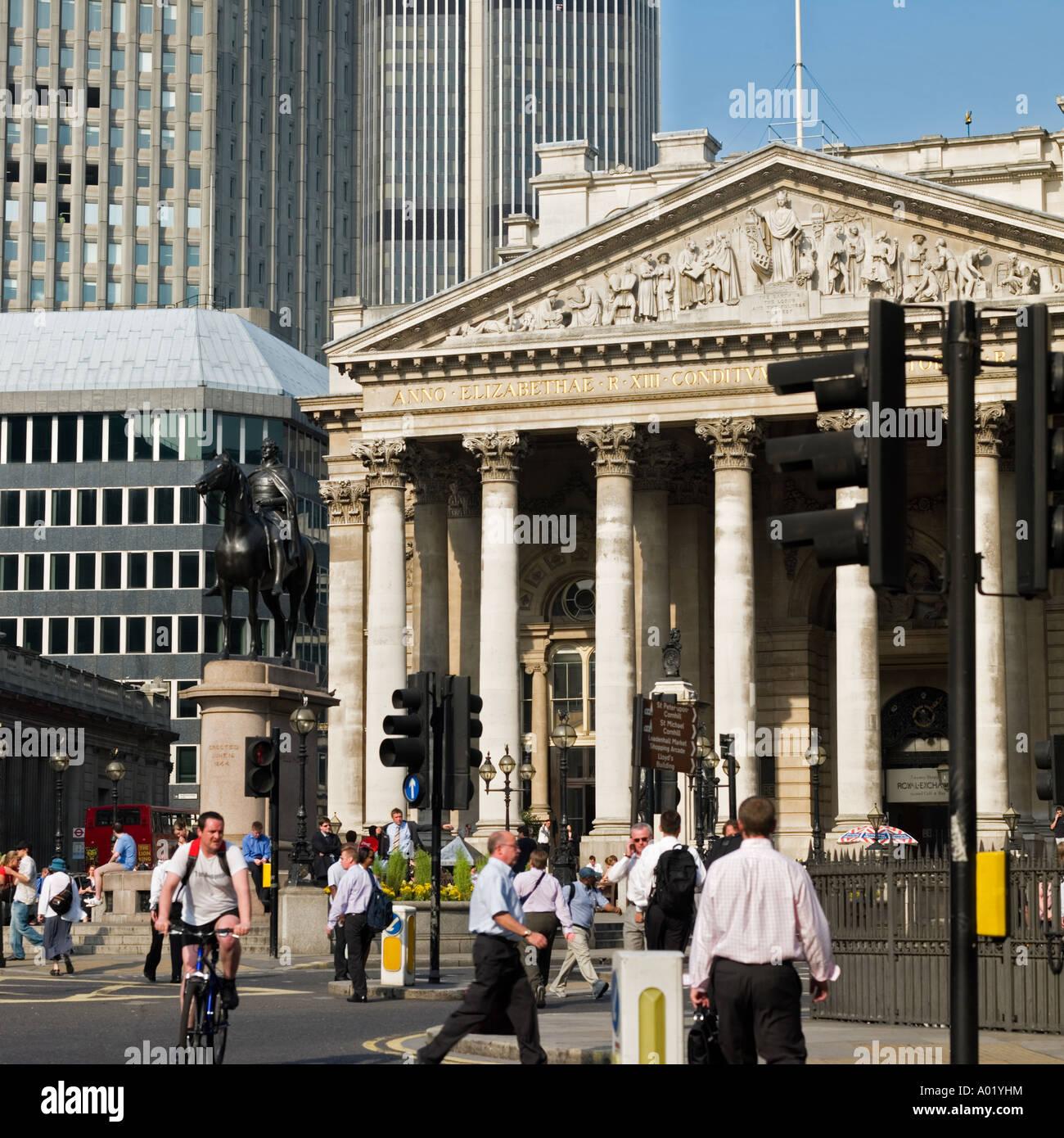 Royal Exchange Cornhill city of London England UK - Stock Image