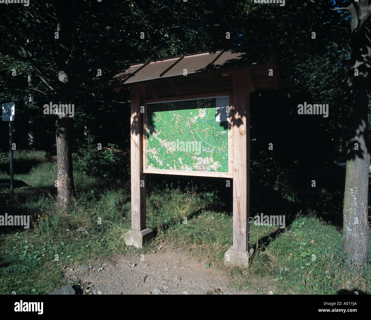 signpost, walking, wandering map, orientate, hobby free time, leisure time Stock Photo