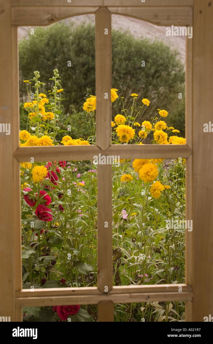 Through Window Garden Hills Stock Photos & Through Window Garden ...