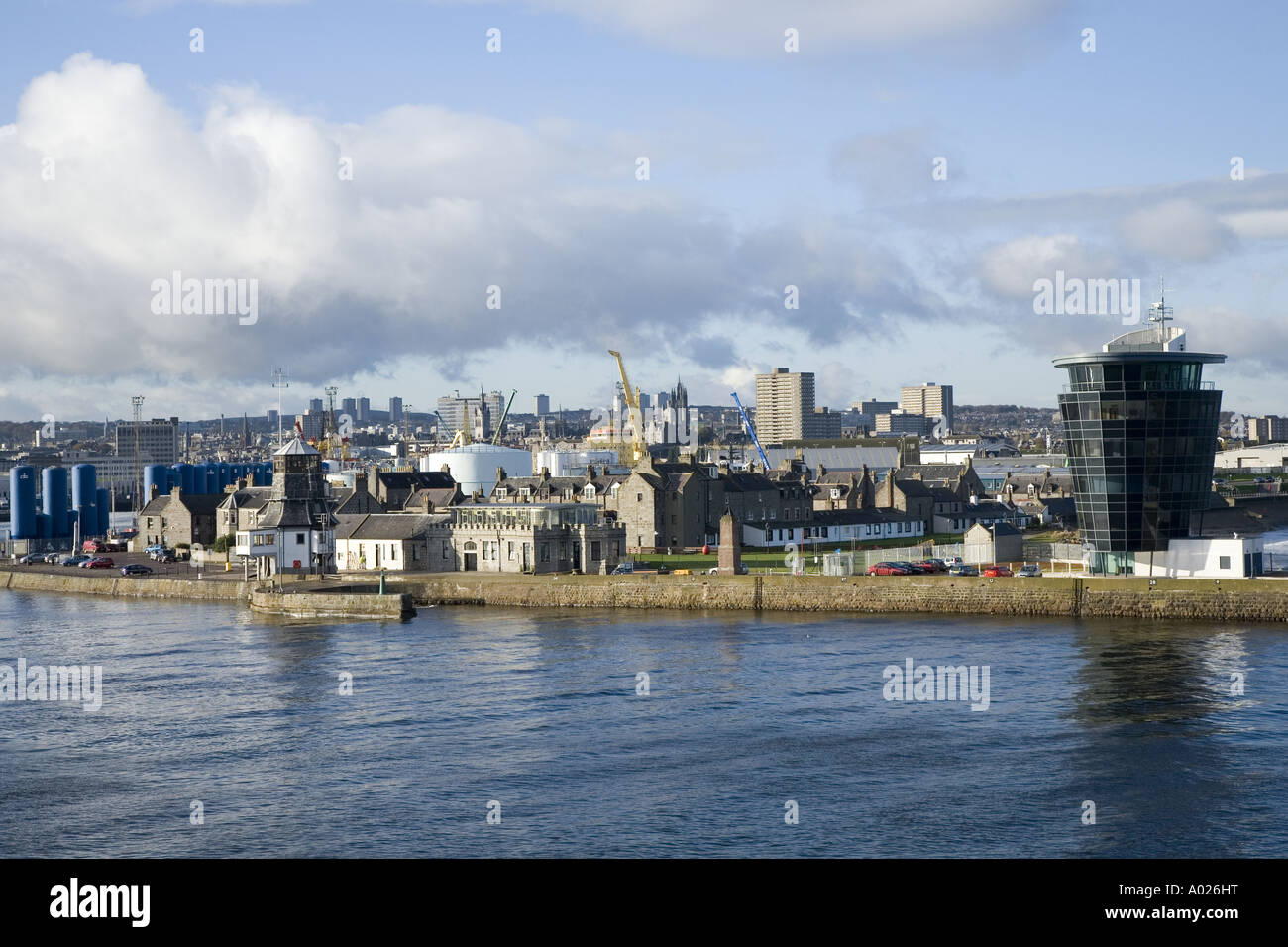 Aberdeen city harbour facilities _ Port in the North-east of Scotland.  Aberdeenshire Scotland uk - Stock Image