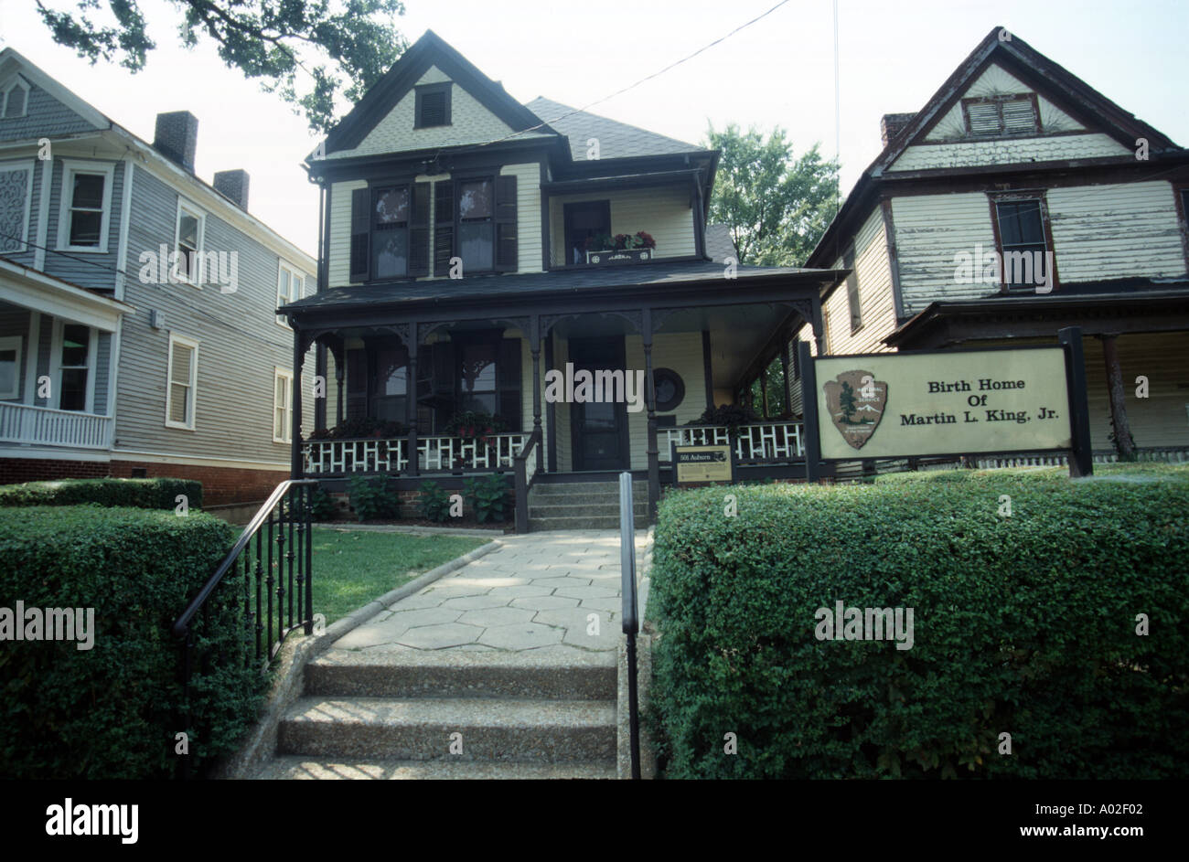 Birth Home Of Martin Luther King Junior Stock Photo 12034 Alamy