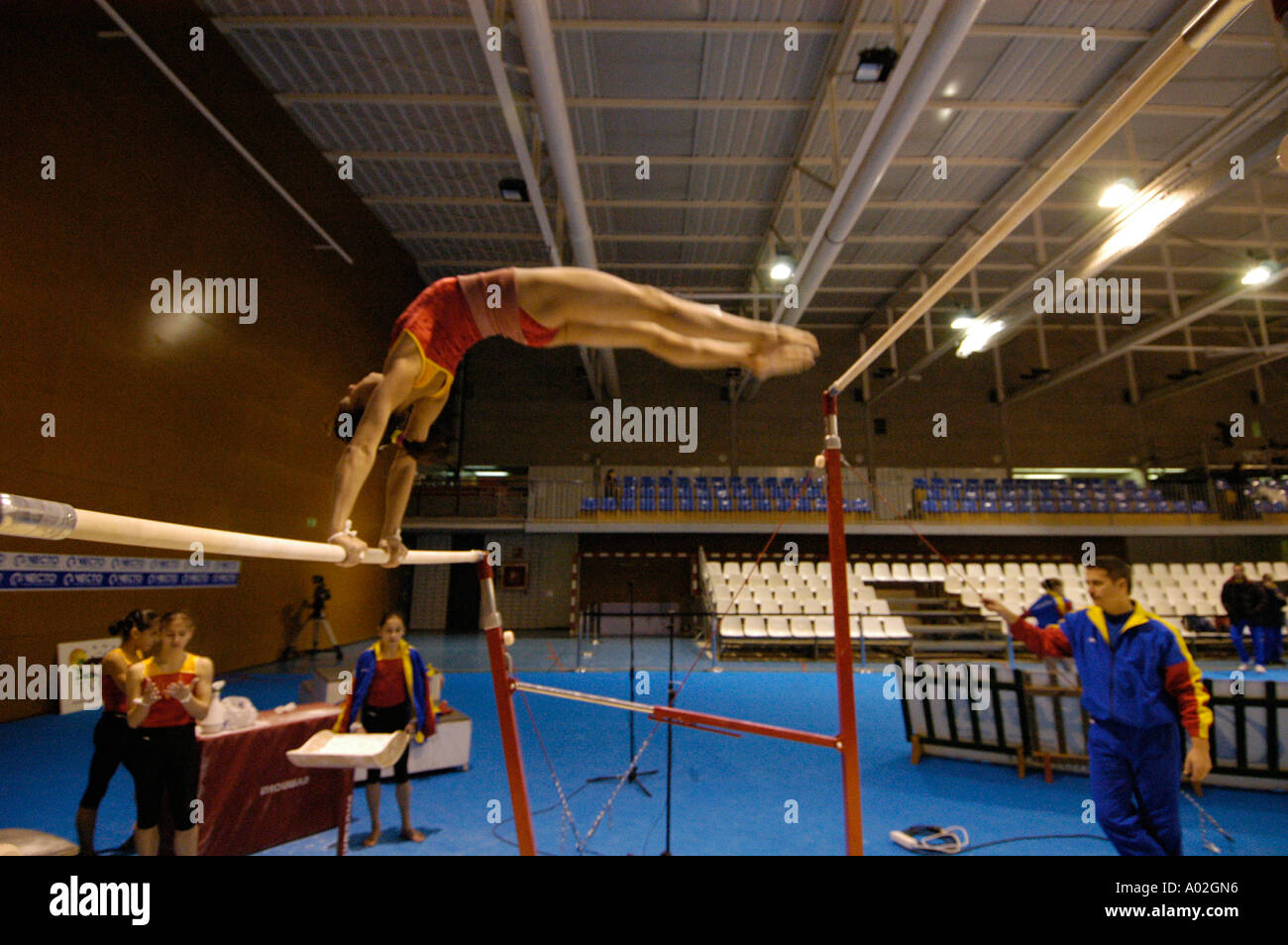 Romanian Olympic Gold Medal Gymnast Stock Photos & Romanian Olympic ...
