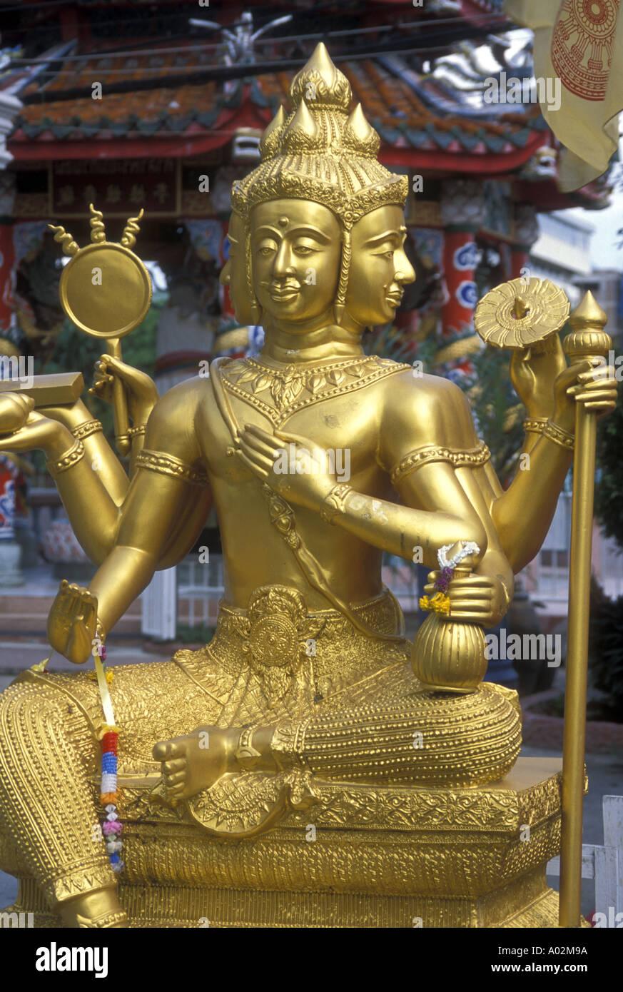 d98ef3390636e Hinduism a trimurti statue representing the gods Brahma Shiva and Vishnu -  Stock Image