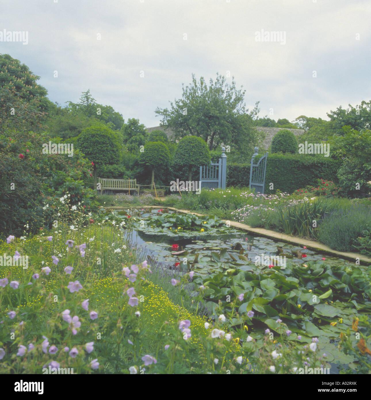 Merveilleux Large Rectangular Garden Pond With Waterlilies Beside ...