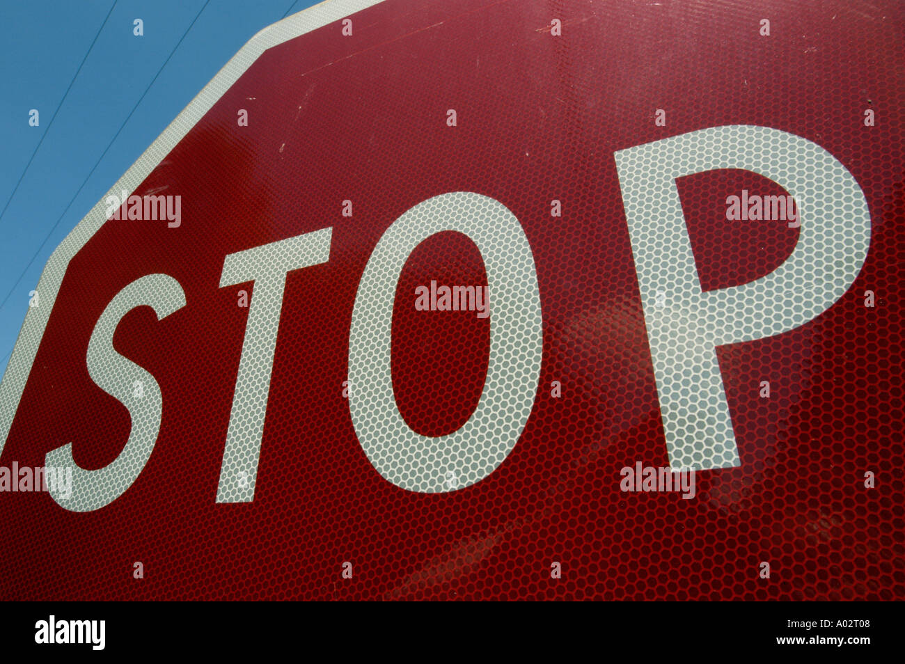 Stop road sign - Stock Image