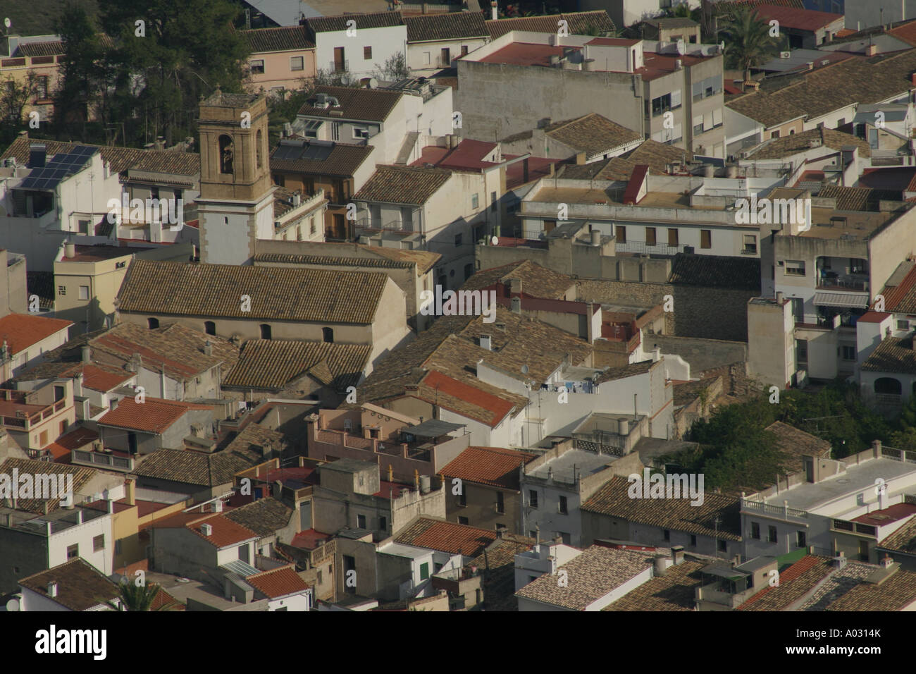 Orba Town, inland from the Costa Blanca, Spain - Stock Image