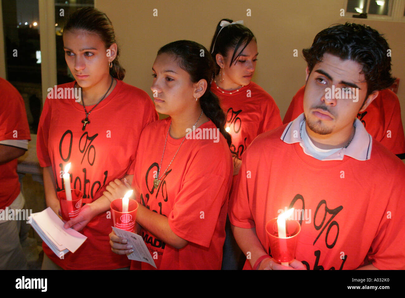 Coral Gables Miami Florida MADD candlelight memorial ceremony drunk driving  naming victims Hispanic teen