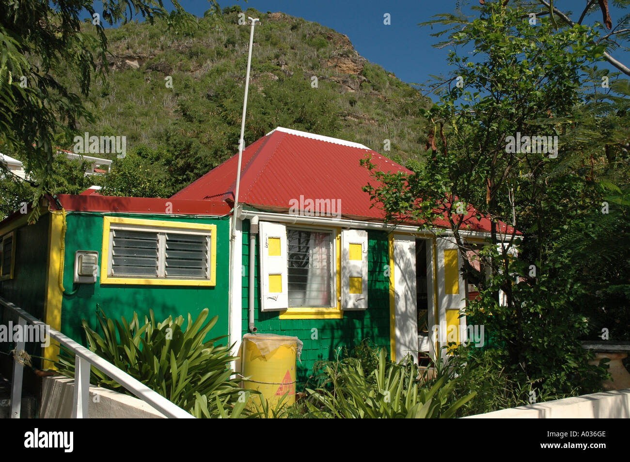 St Barths  old wooden house - Stock Image