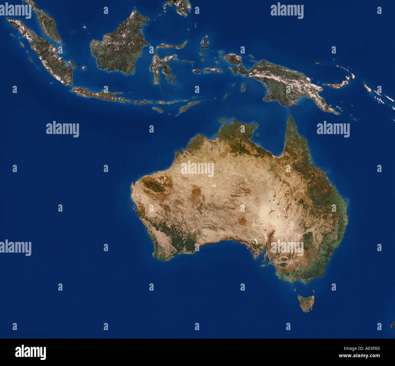 australia from space - Stock Image
