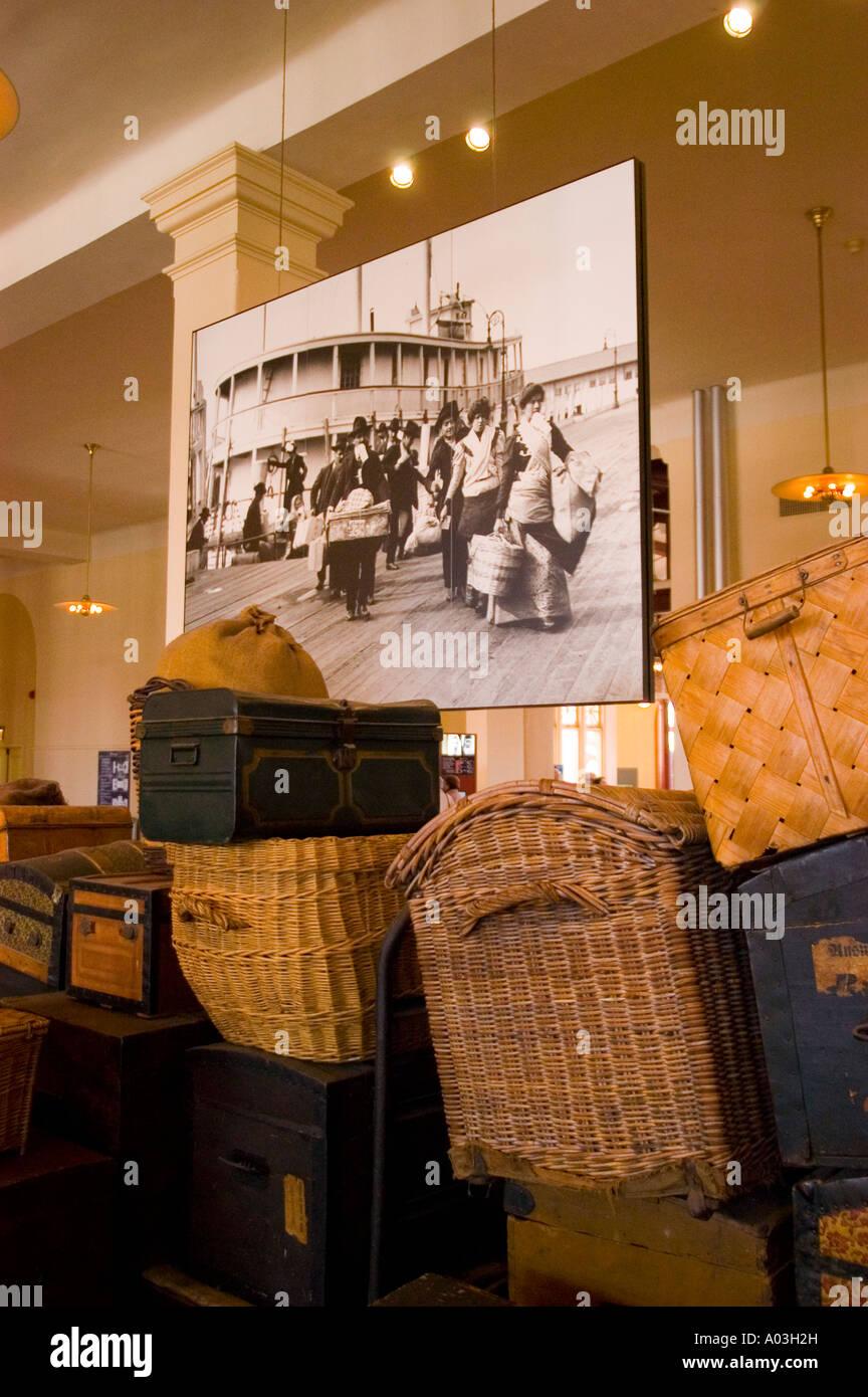 New York City New York Ellis Island immigrant gateway - Stock Image