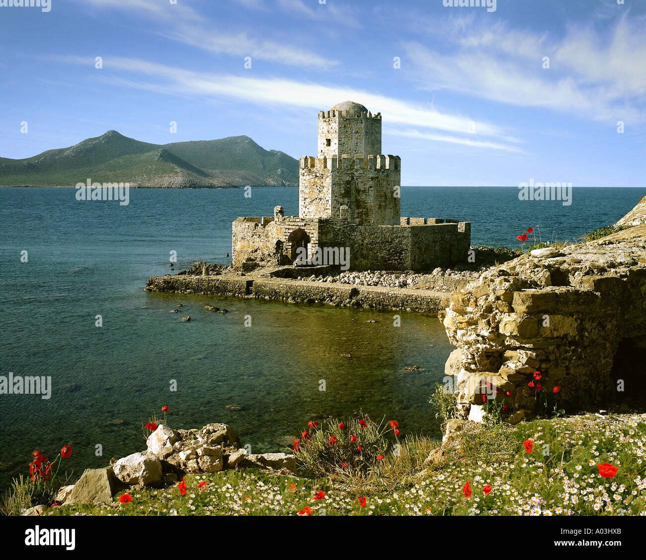 GR - PELOPONNESE:  Methoni Castle near Pylos - Stock Image