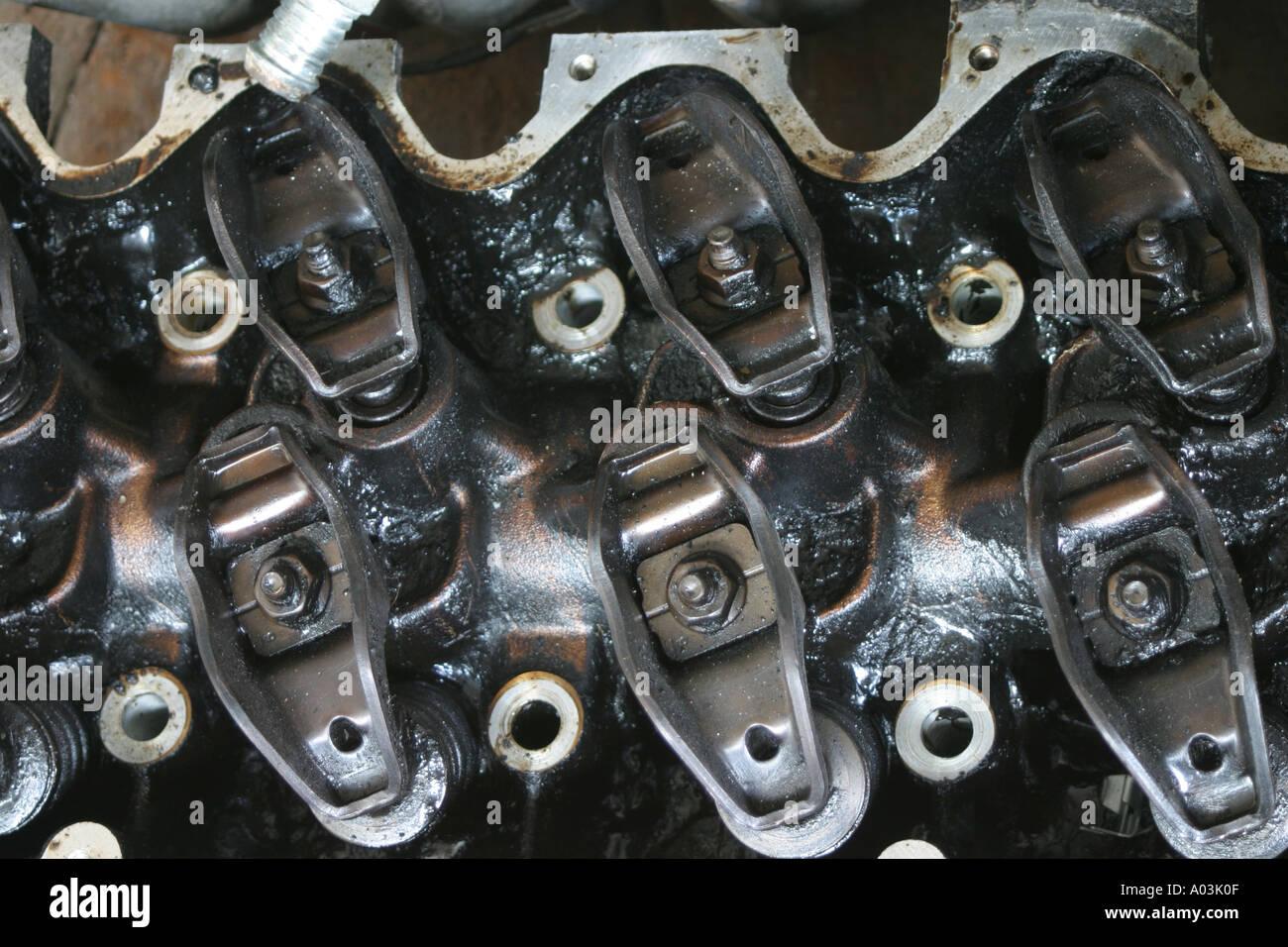 no longer used cylinder head - Stock Image