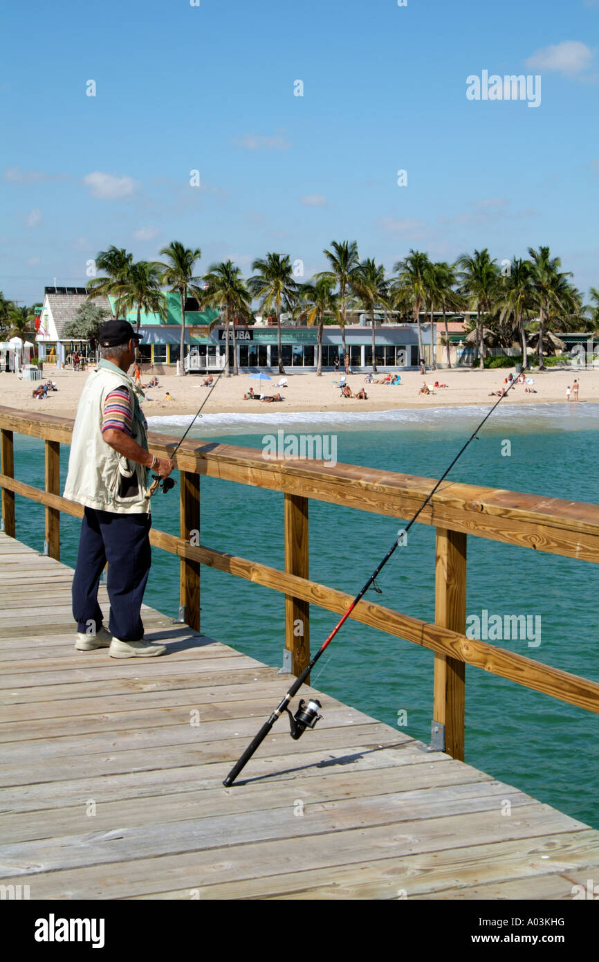 Fishing pier at Lauderdale by the Sea situated just north of