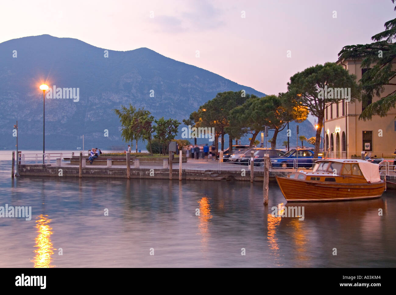 Iseo, Lago d'Iseo, Lombardy, Italy - Stock Image