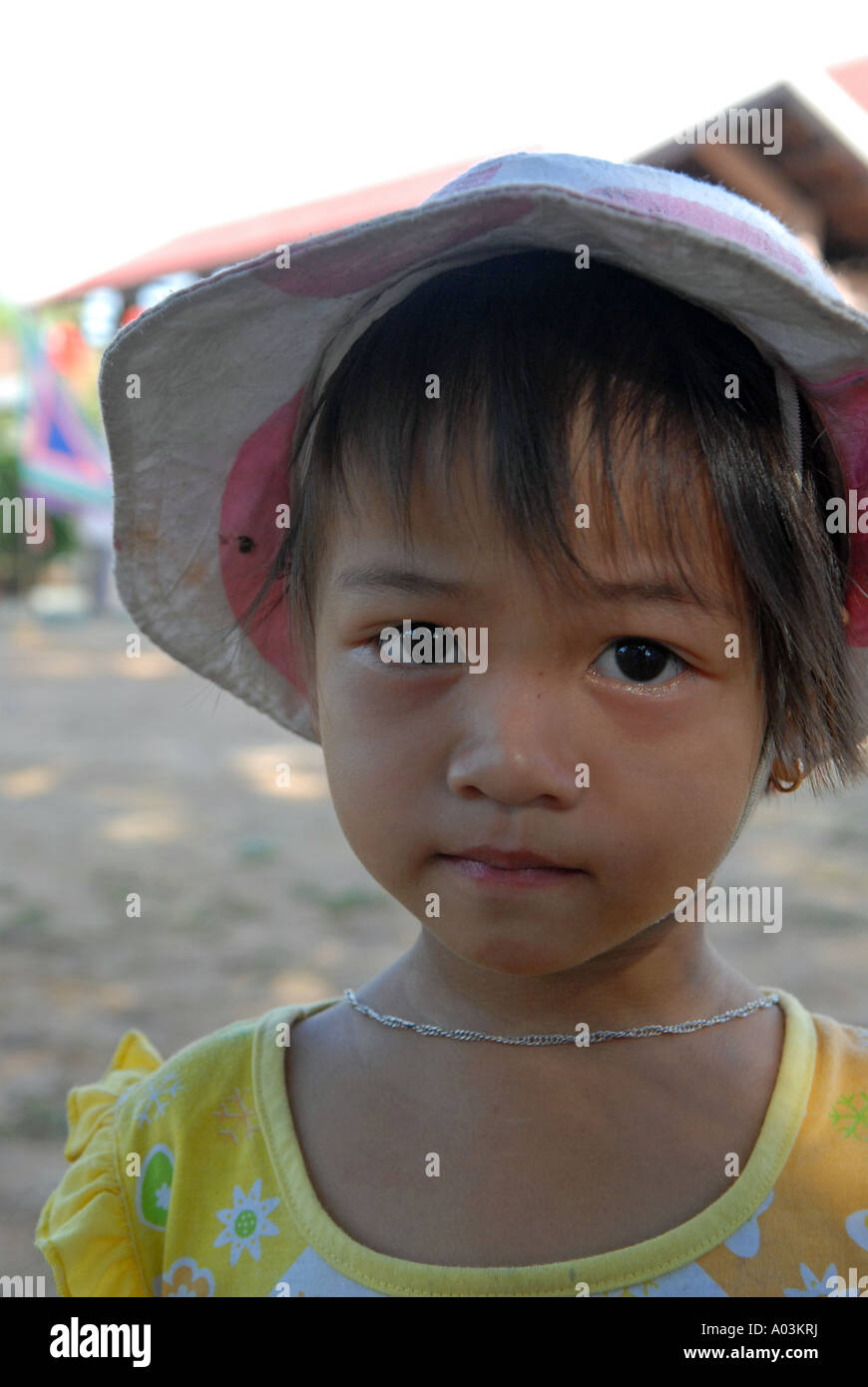 Little Vietnamese girl Vietnam Stock Photo