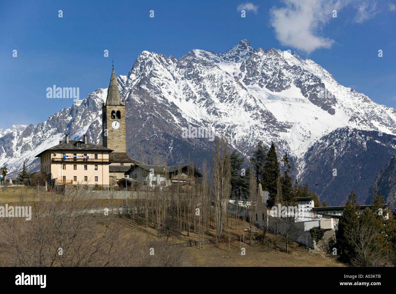 Gignod, San Bernardo Pass, Valle d'Aosta, Italy - Stock Image