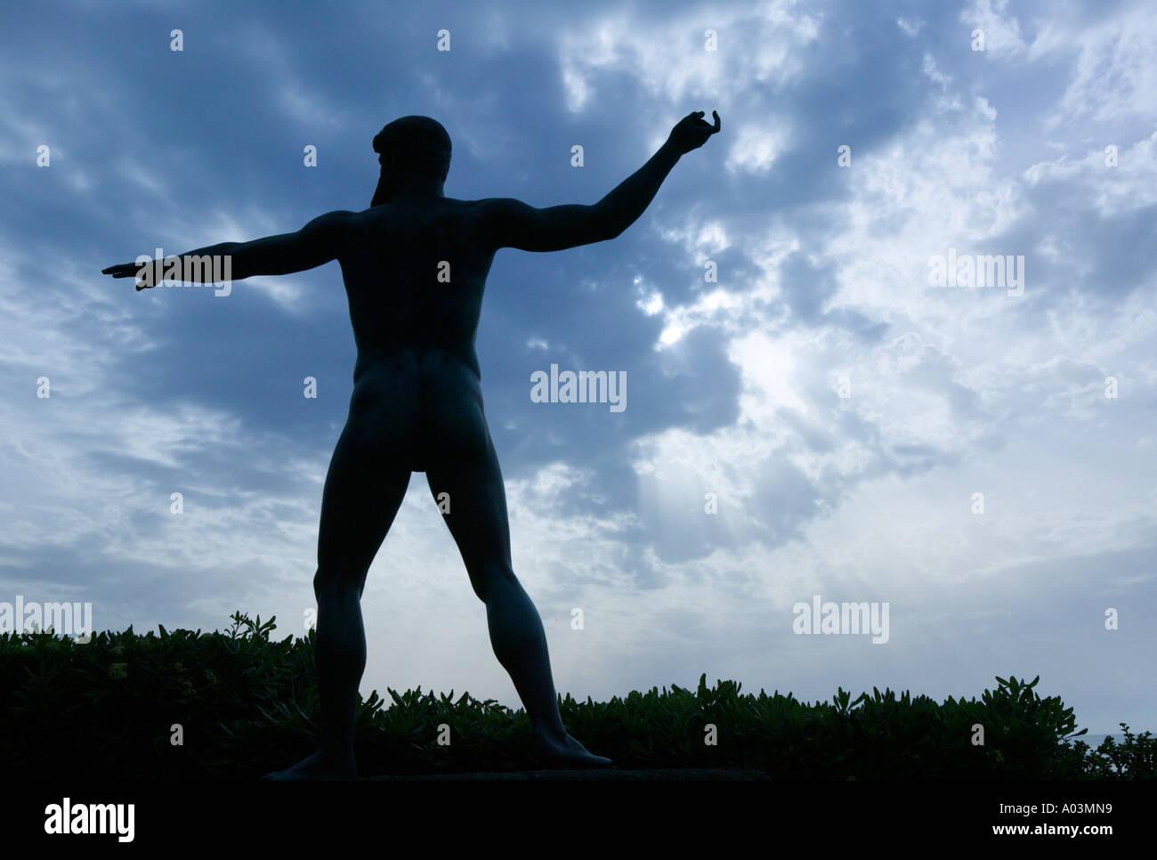 Poseidon Statue, Citara, Ischia, Campania, Italy - Stock Image