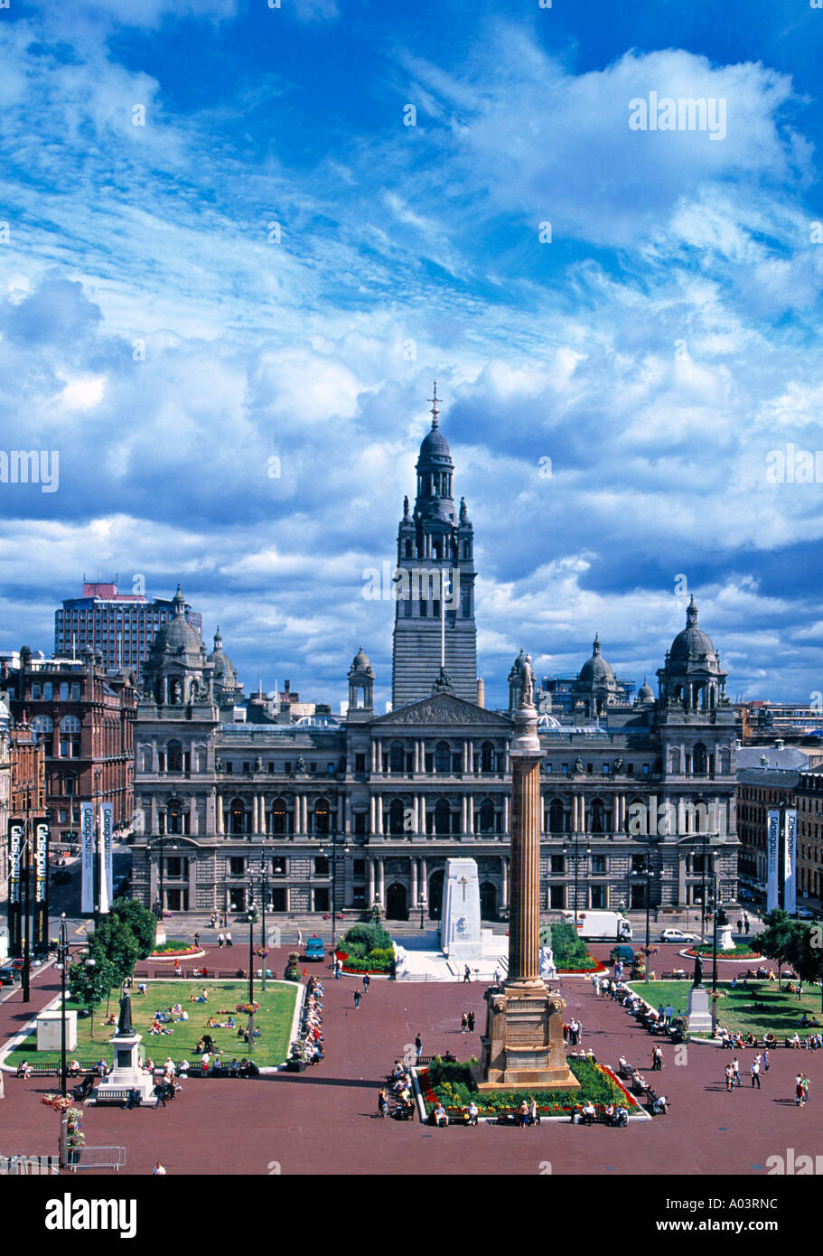 City Chambers, George Sq. , Glasgow, Scotland - Stock Image