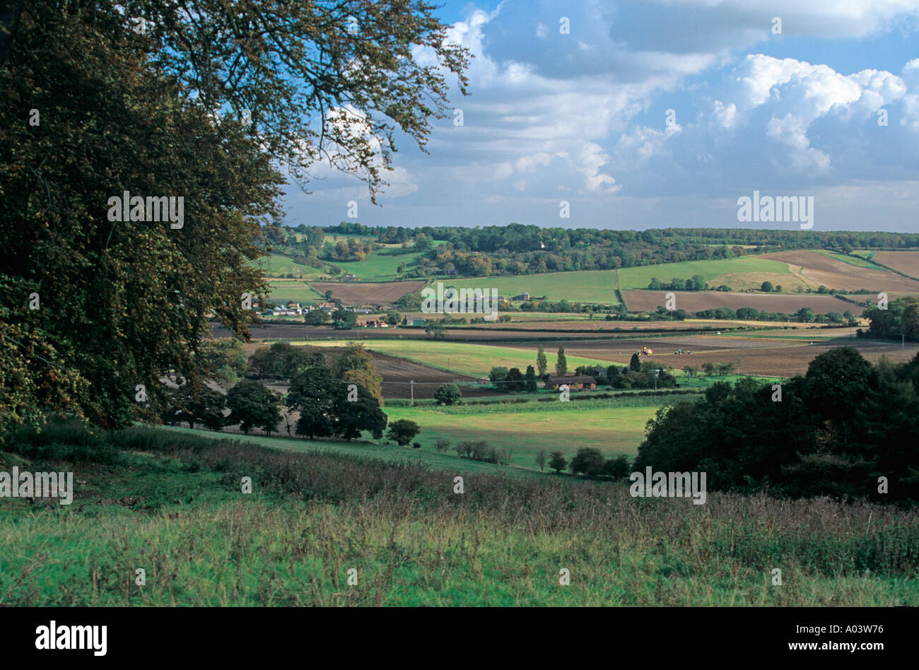 Upper Gade Valley Hertfordshire UK in October - Stock Image