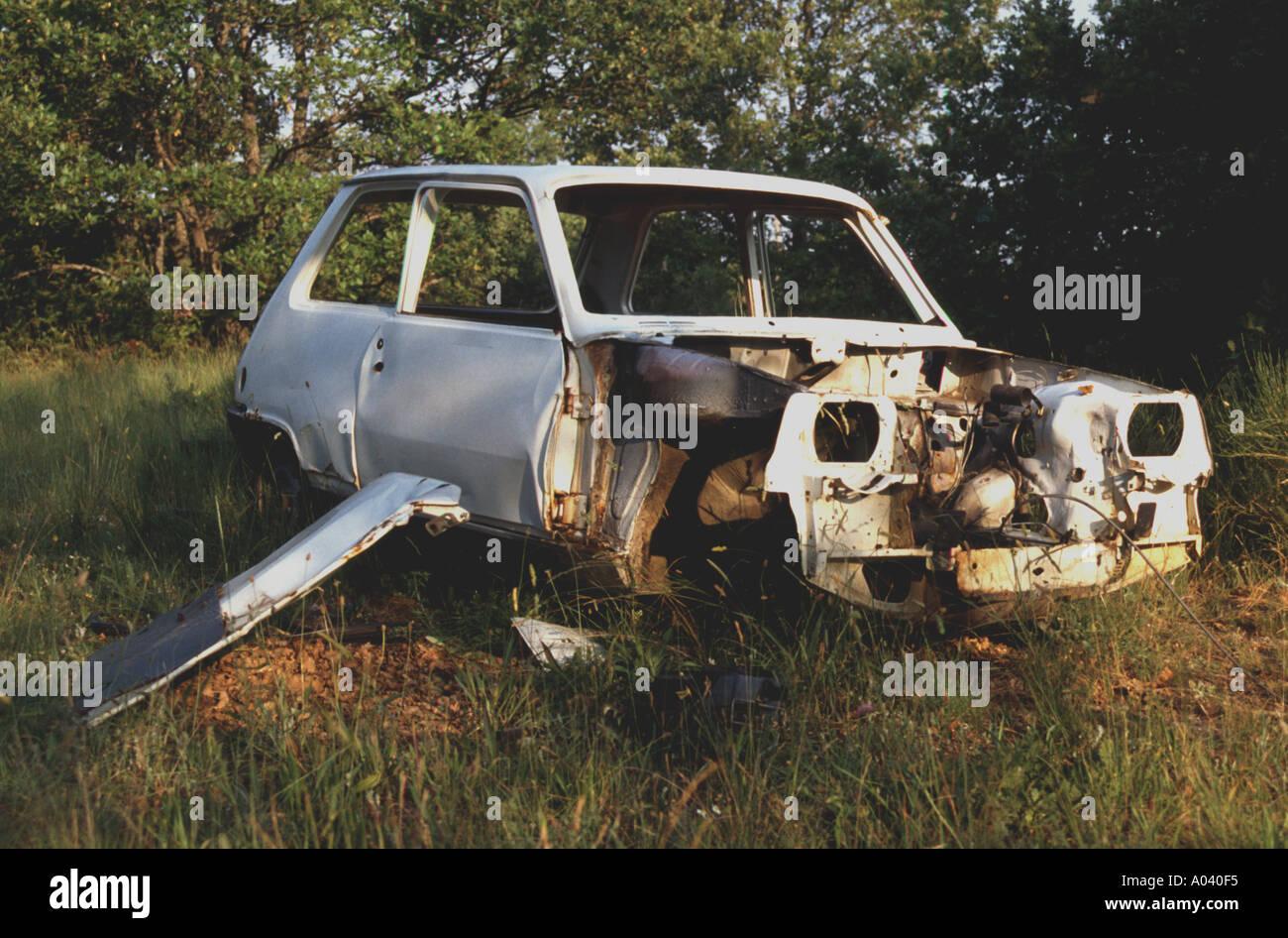 car wreck scrap value scrap metal junk rubbish Stock Photo: 16629 ...