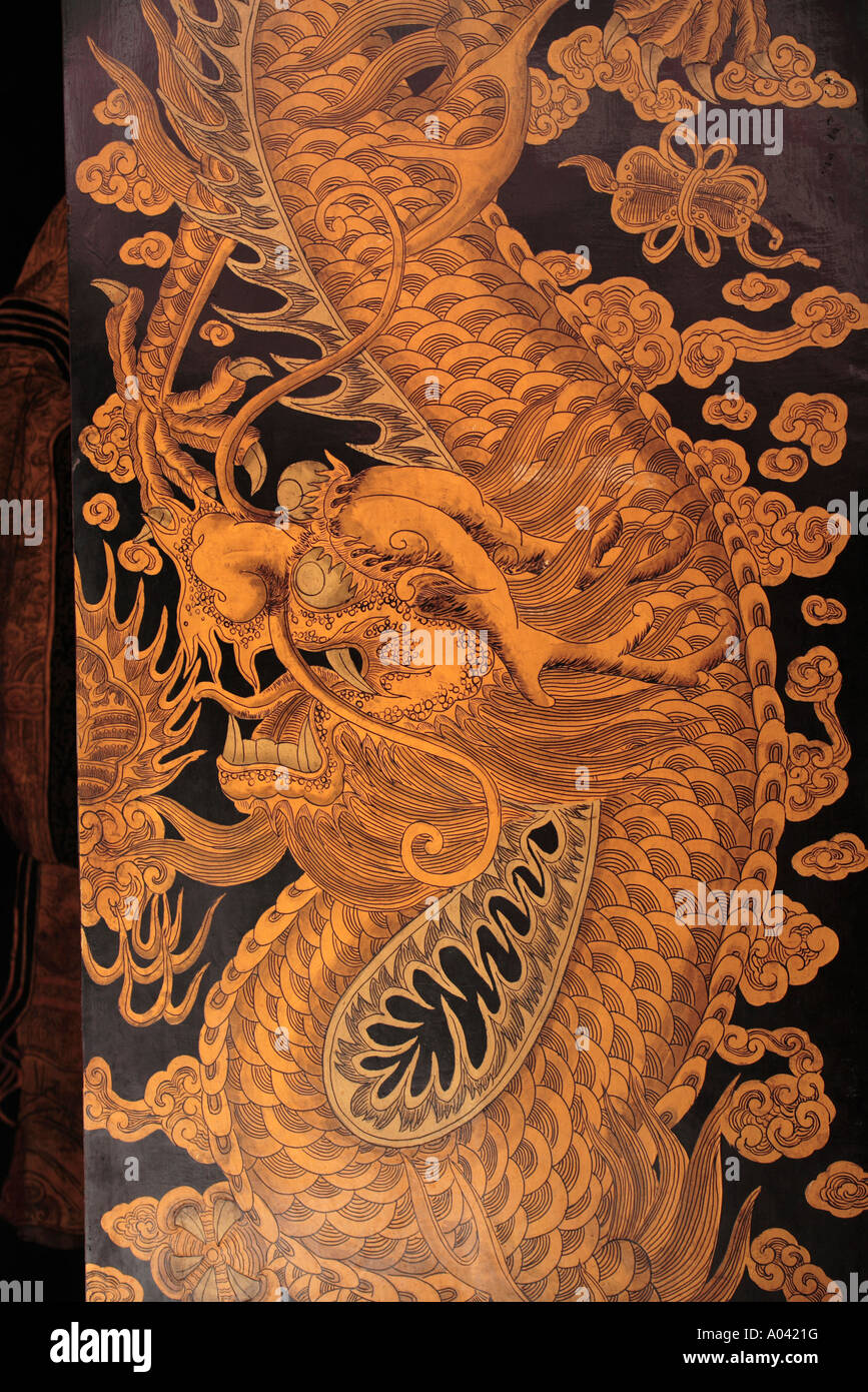 Asia Singapore Dragon paintings on doors at Thiam Hock Keng Temple & Asia Singapore Dragon paintings on doors at Thiam Hock Keng Temple ...