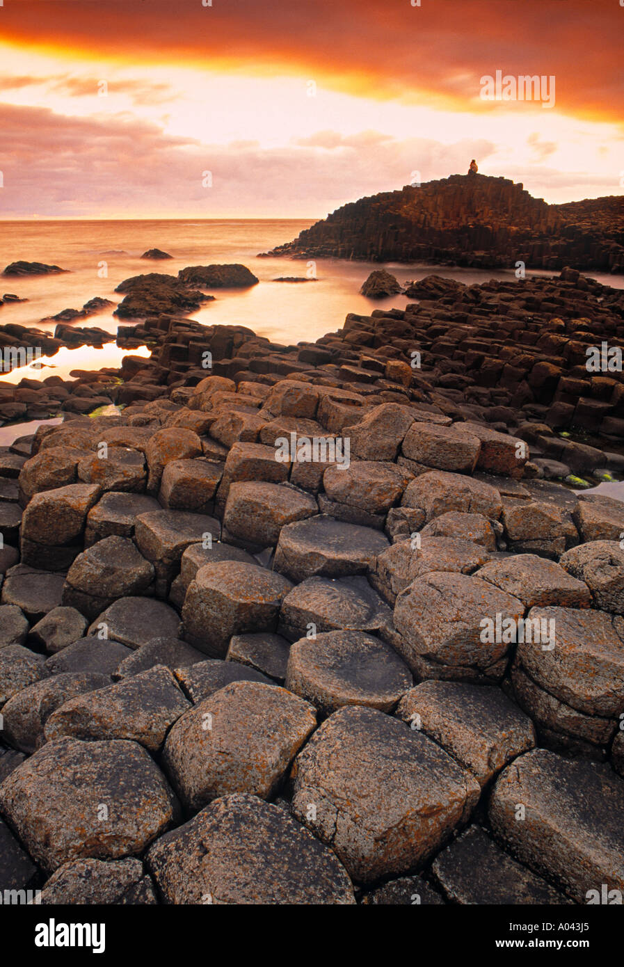 Giants Causeway, Northern Ireland - Stock Image