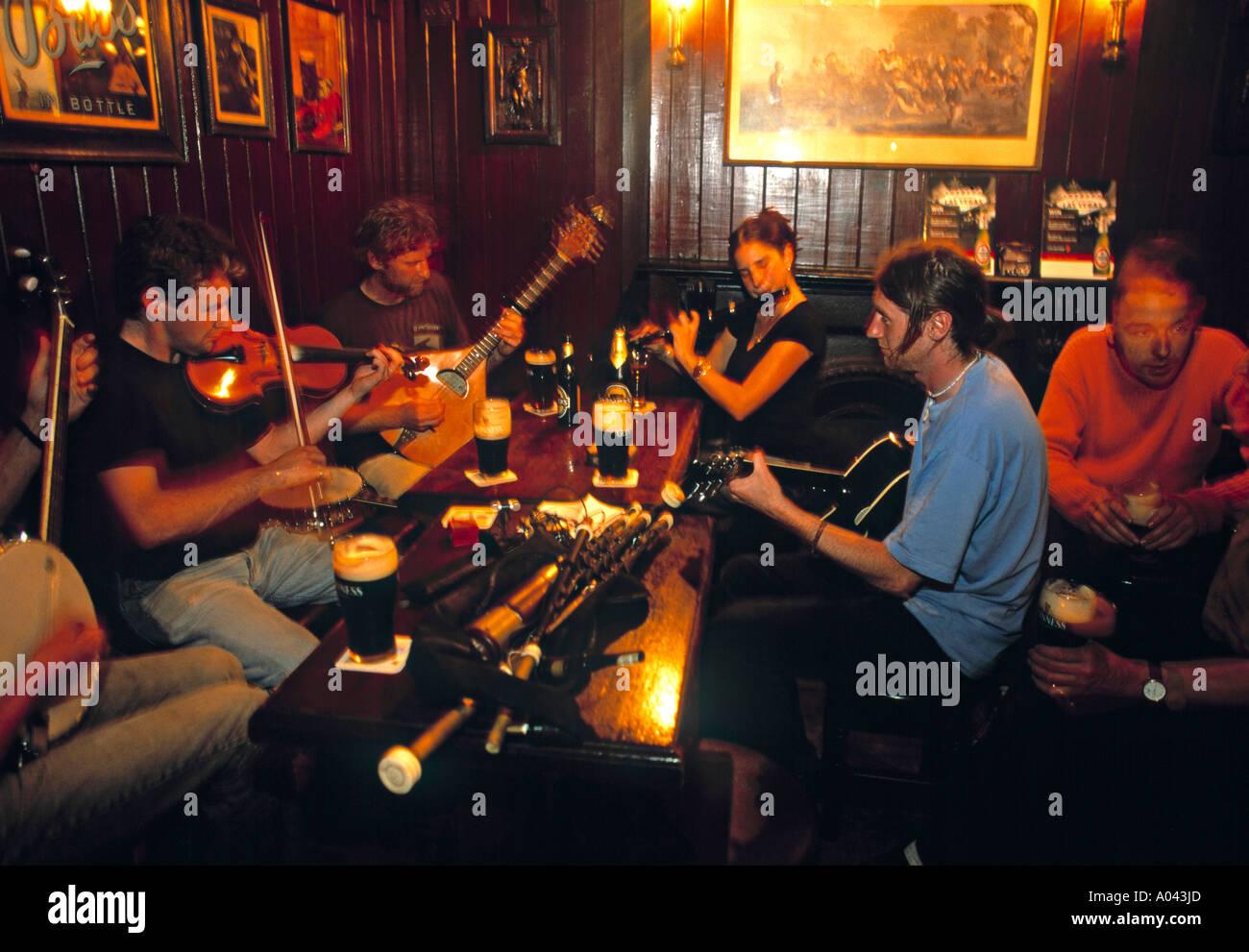 Traditional Folk Music, Sligo, Co. Sligo, Ireland - Stock Image