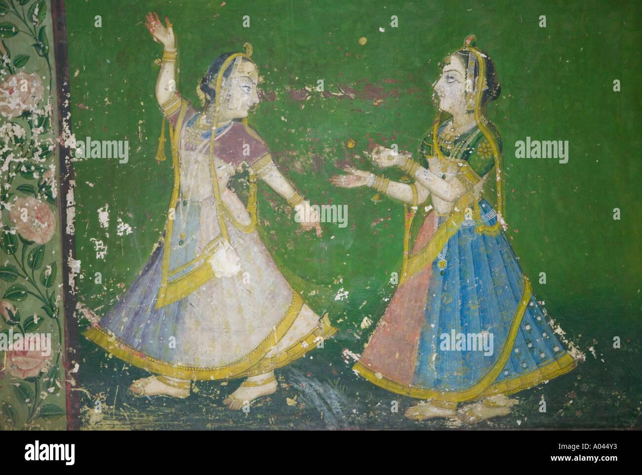Indian Wall Art, City Palace, Udaipur, Rajasthan, India