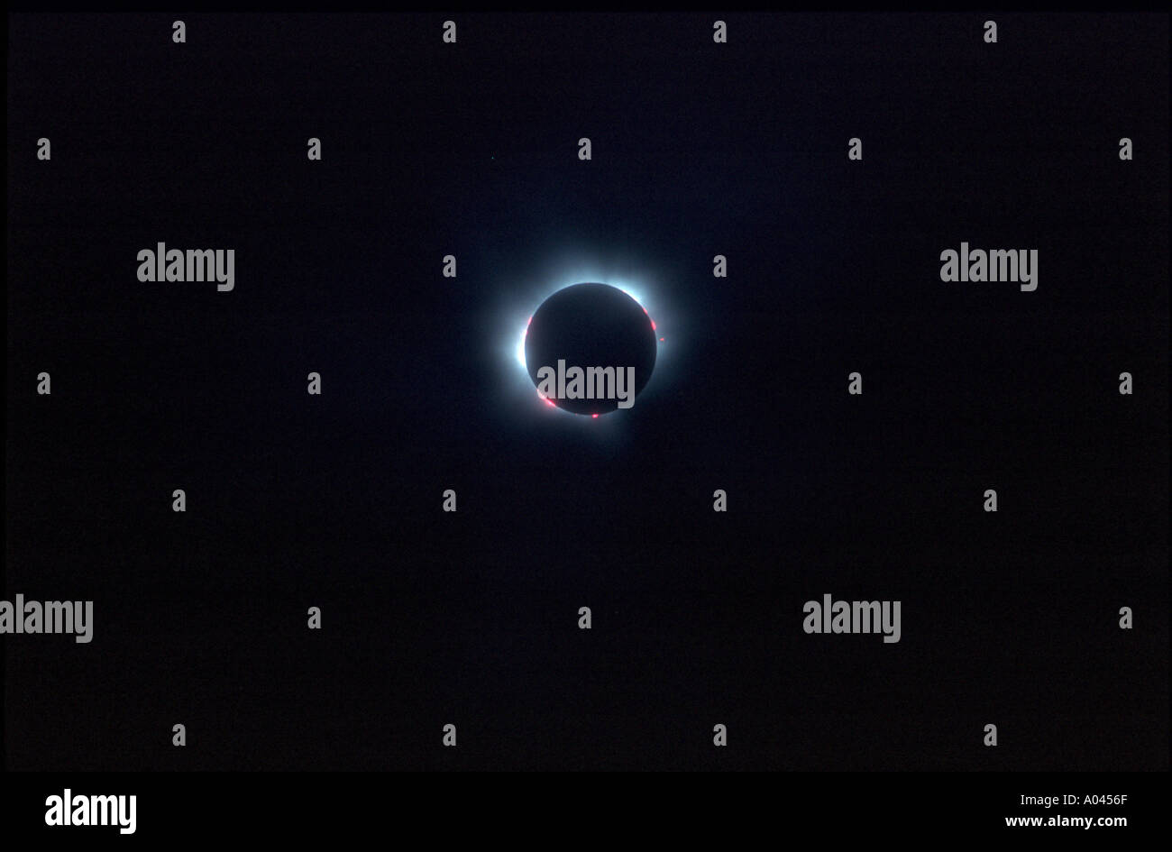 Total eclipse of the sun in Southern Germany August 1999 - Stock Image