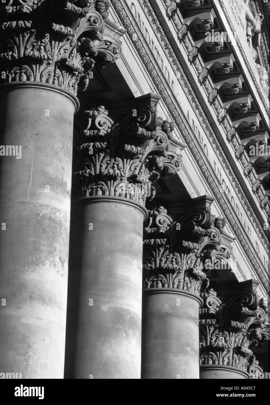 Royal Exchange Building Columns Financial District London City England Stock Photo