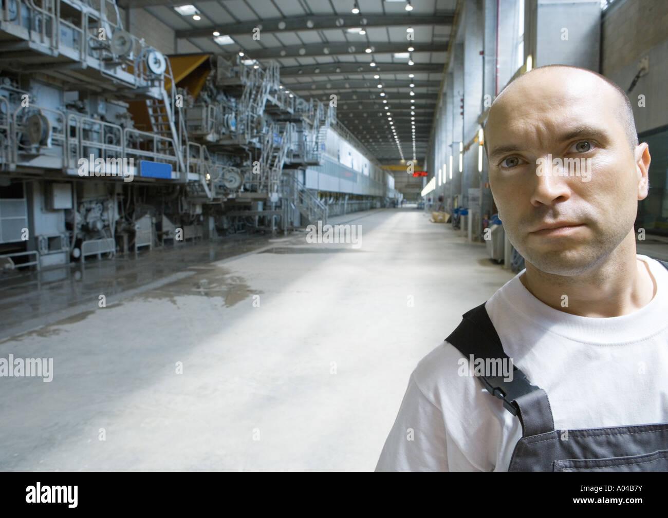 Factory worker, portrait - Stock Image