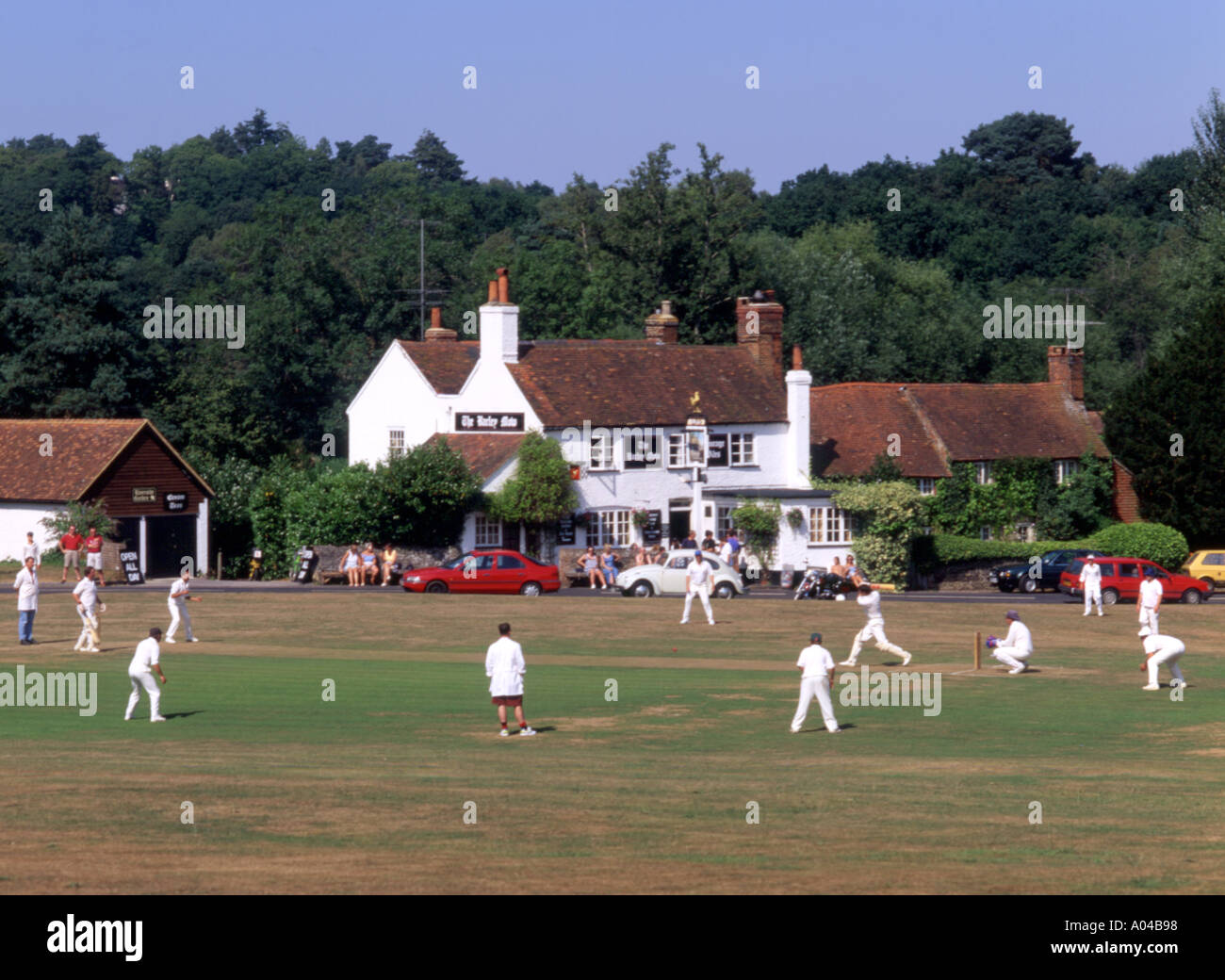 England Tilford Village green cricket match - Stock Image