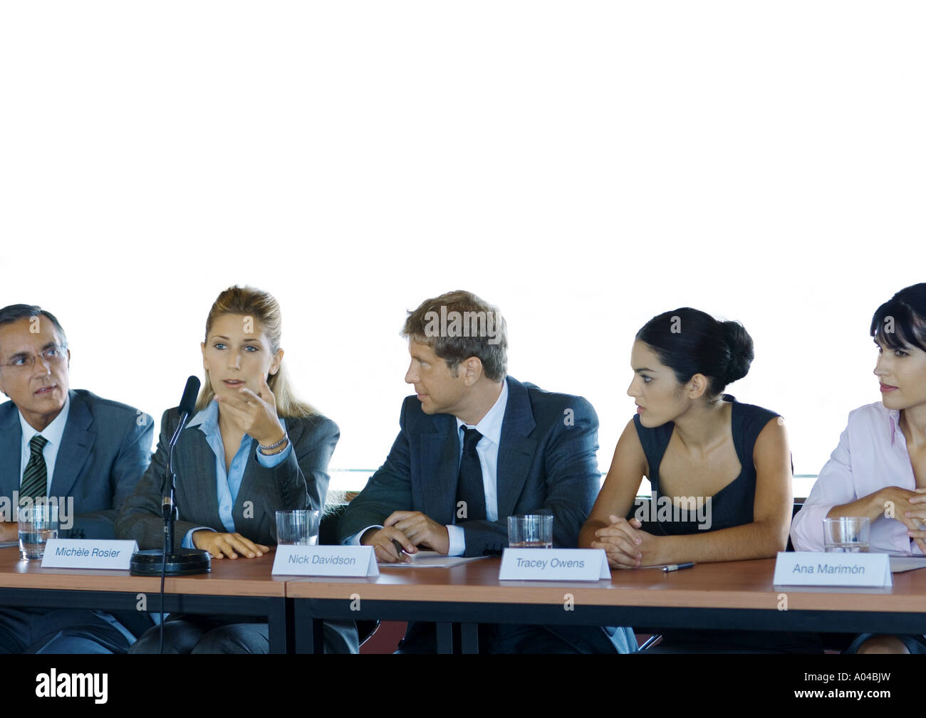 Businesspeople in committee meeting - Stock Image
