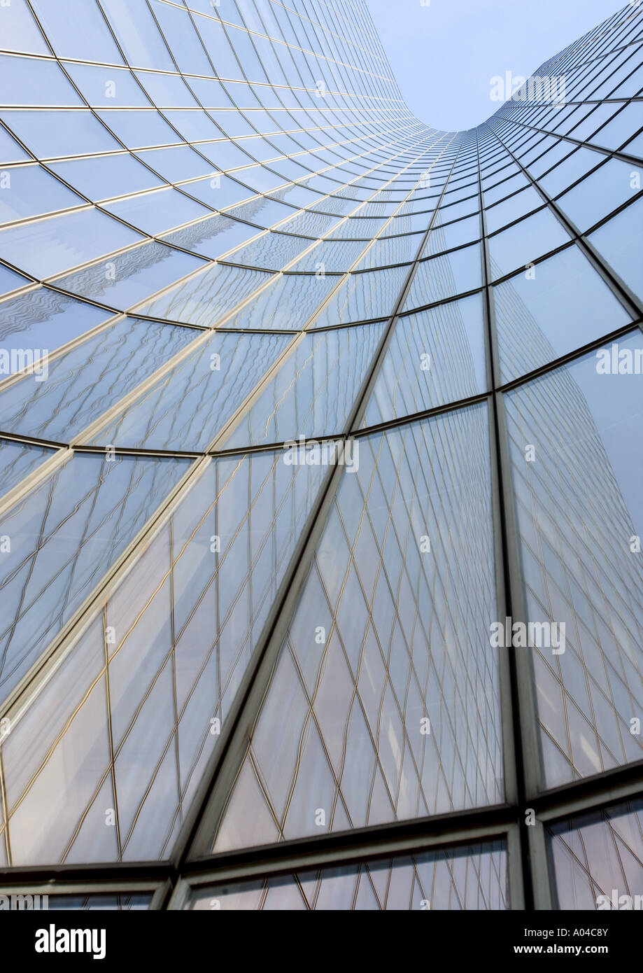Skyscraper, low angle, abstract view Stock Photo