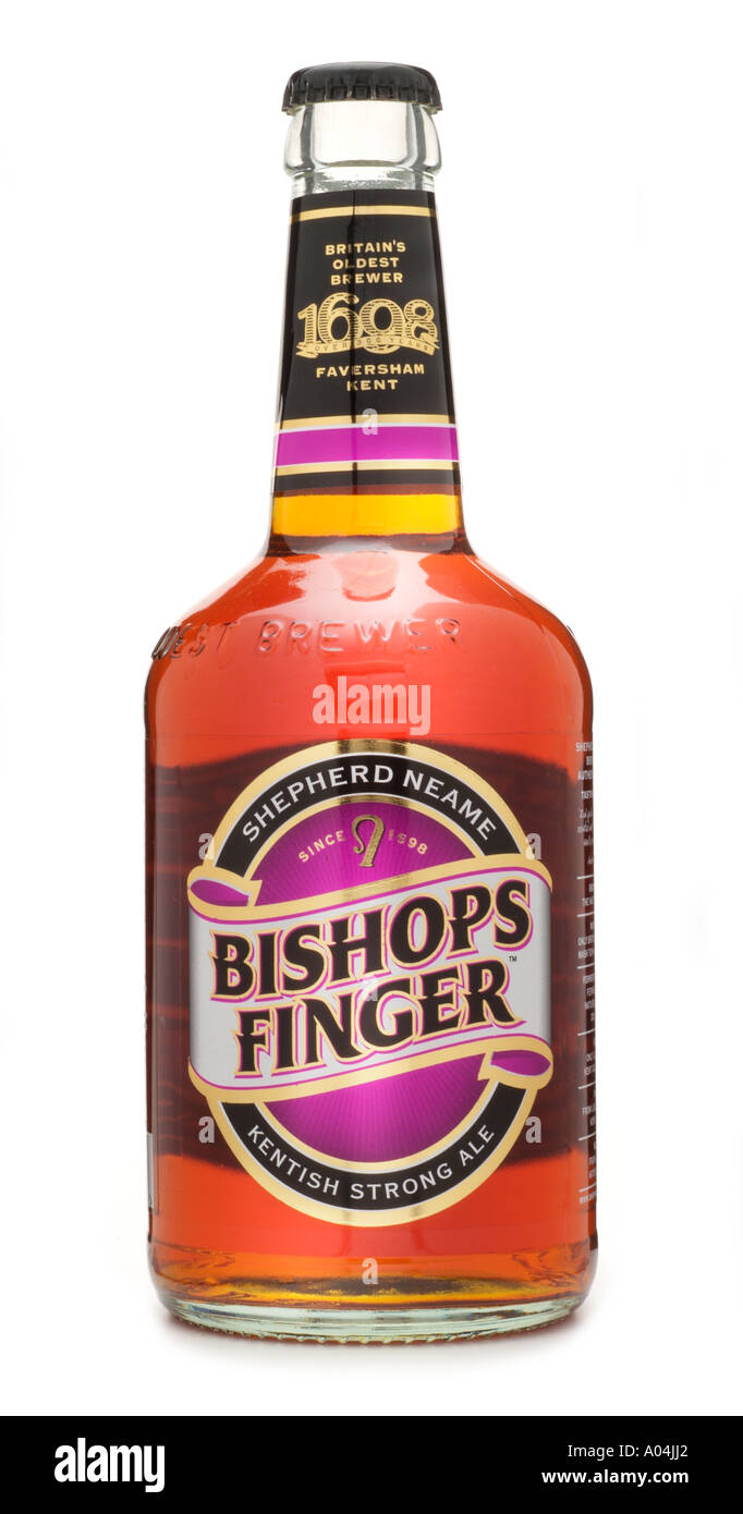 Shepherd neame bishops finger kentish strong ale oldest brewery England UK United Kingdom GB Great Britain EU European Union - Stock Image