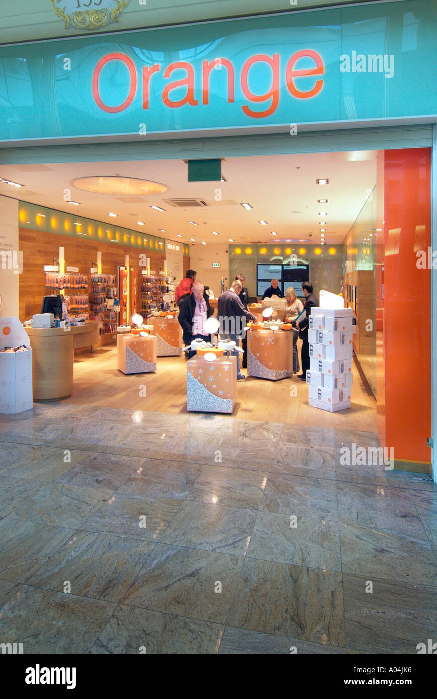 0c93e4b1d97 Orange mobile phone store retail Trafford centre UK United Kingdom England  Europe GB Great Britain EU
