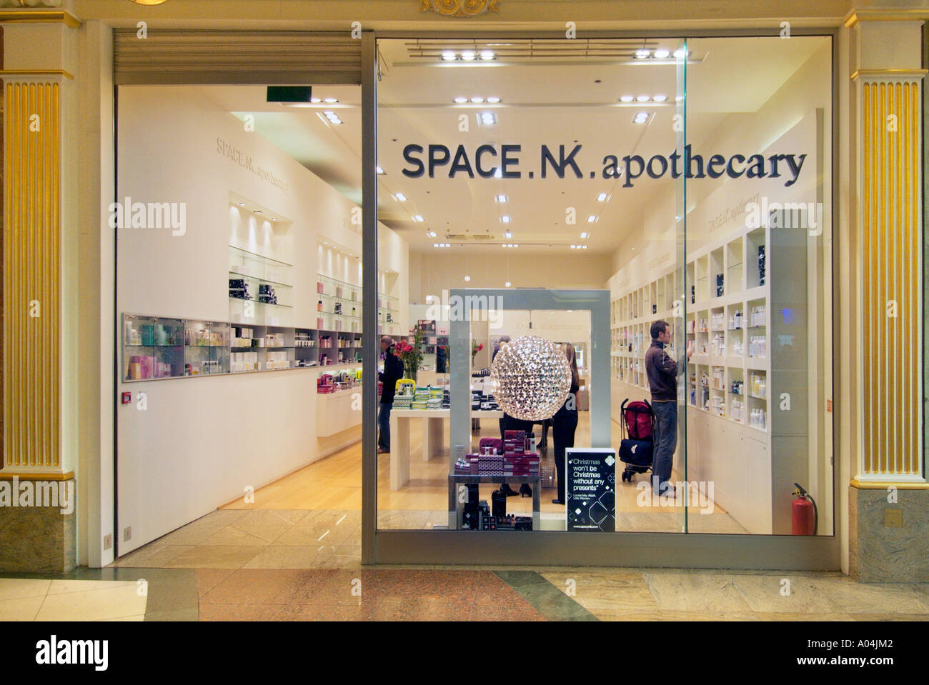 Space NK apothecary store retail store UK United Kingdom England Europe GB Great Britain EU European Union Stock Photo
