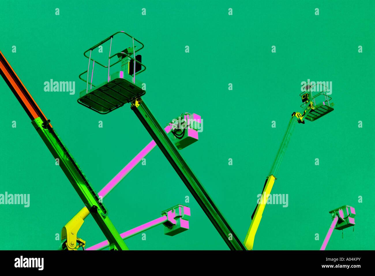 Telescoping platforms - Stock Image