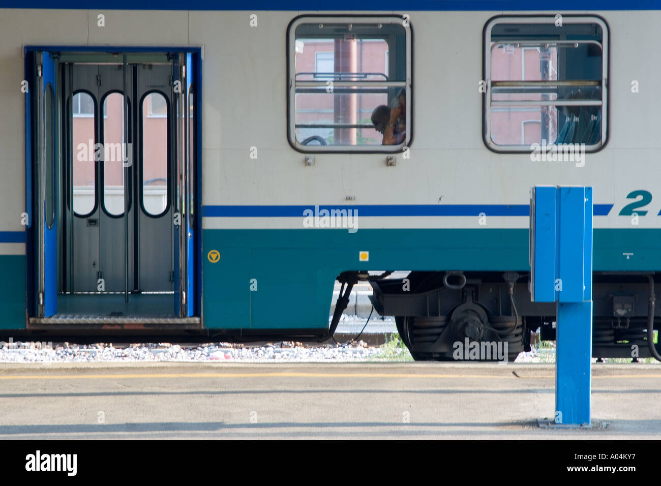 Train Carriages - Florence, Italy Stock Photo