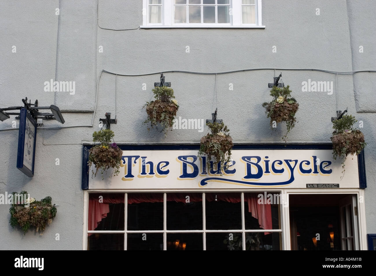 The Blue Bicycle Fossgate York - Stock Image