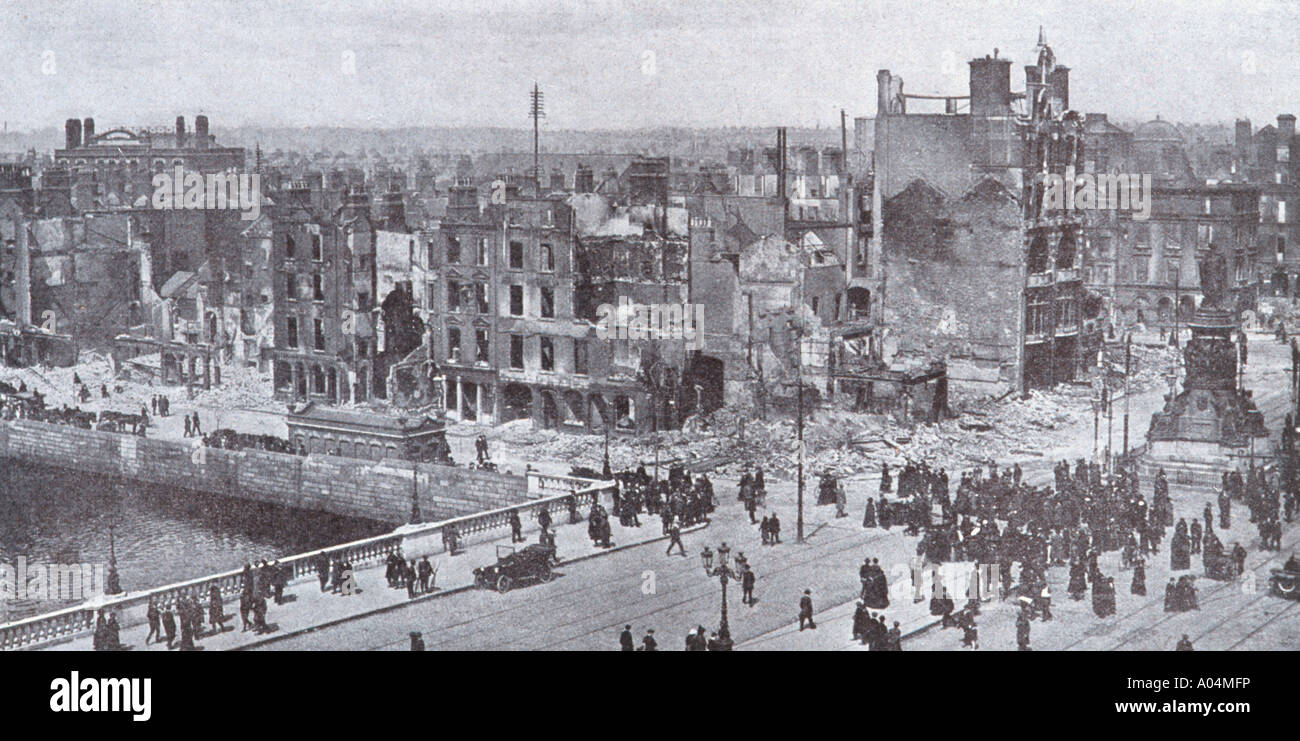 Dublin Ireland Easter Uprising 1916 - Stock Image