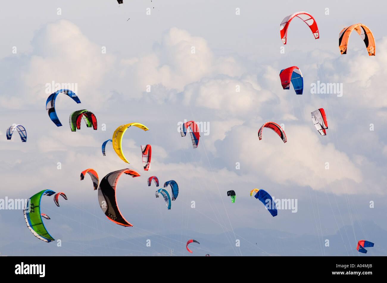 kites in the sky - Stock Image